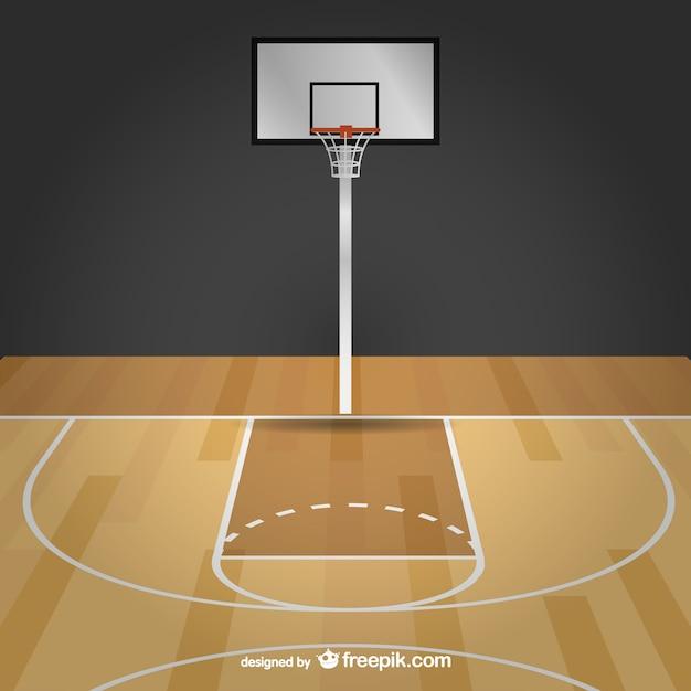 バスケットボール自由ベクトルコート 無料ベクター