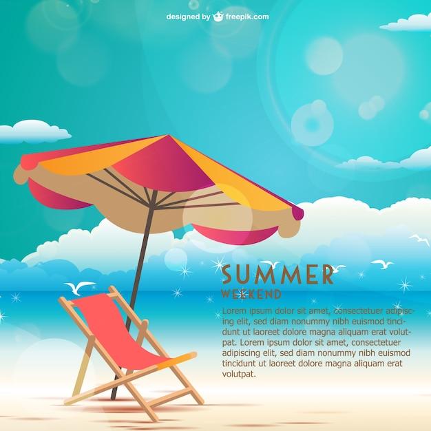 Приморский летом вектор выходные Бесплатные векторы