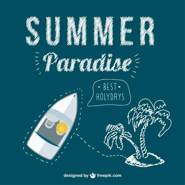 Концепция летних поездок вектор Бесплатные векторы
