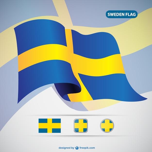 Вектор флаг швеции Бесплатные векторы