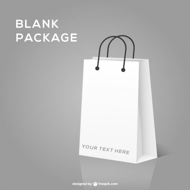 ショッピングバッグ、現実的なモックアップ 無料ベクター