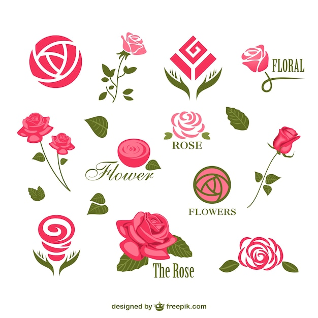 Цветок вектор логотипы шаблоны Бесплатные векторы