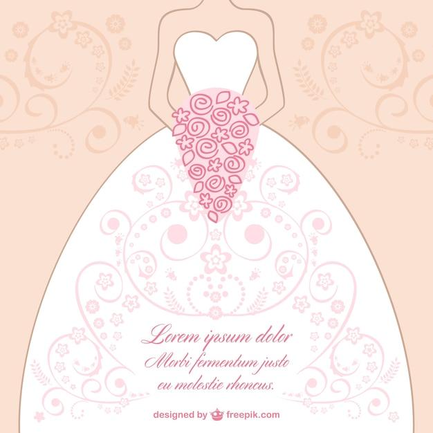 ウェディングドレスのレースのデザインベクトル 無料ベクター