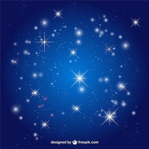 星の空のベクトルの背景 無料ベクター