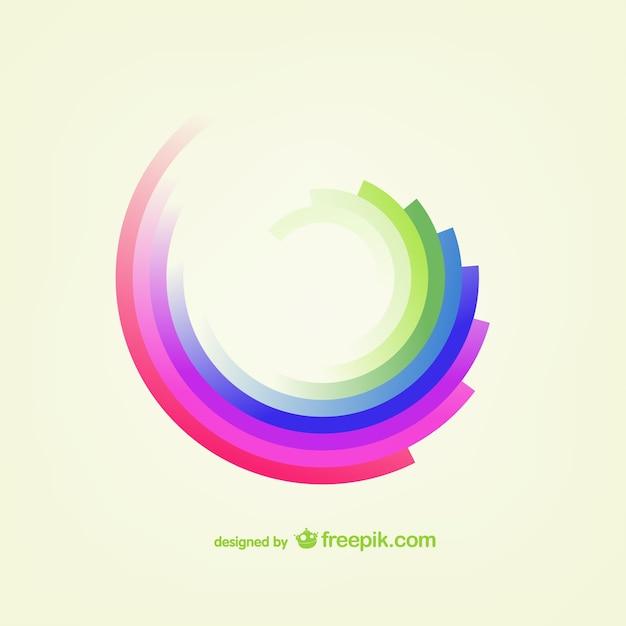 虹形状ベクトル 無料ベクター