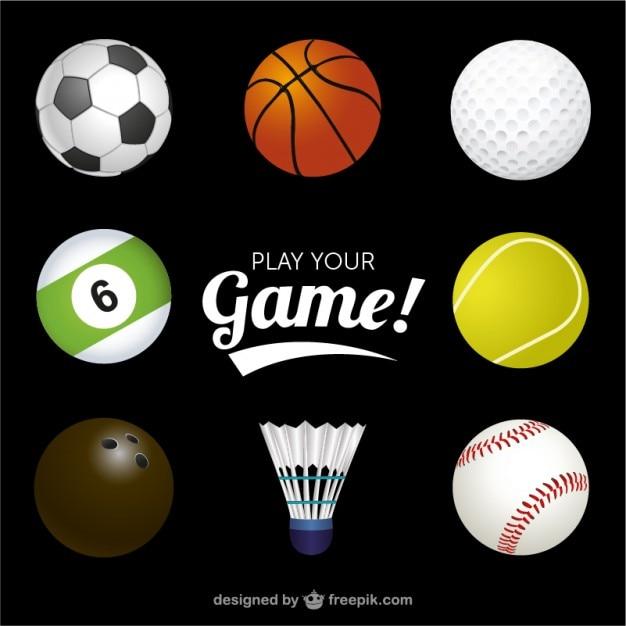 Спортивные мячи векторной графики Бесплатные векторы