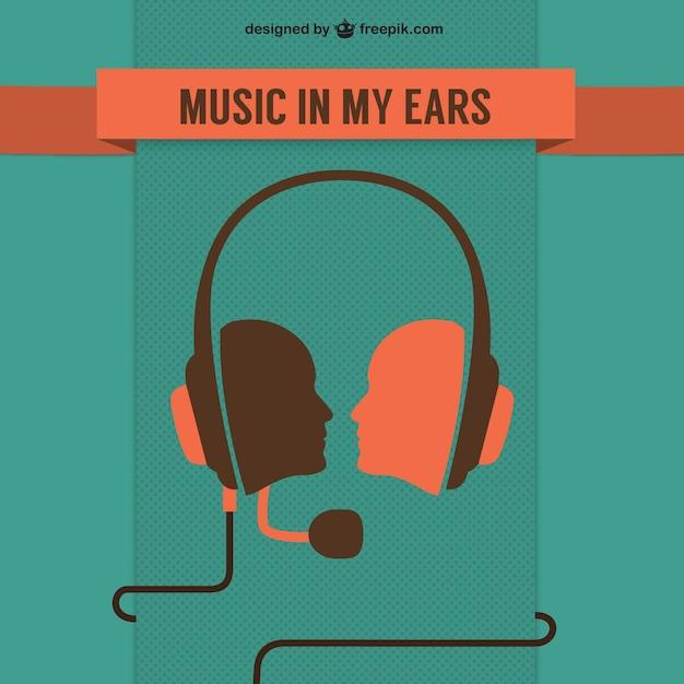 音楽のコンセプトの無料テンプレート 無料ベクター