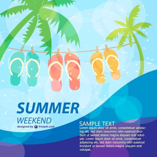 Лето плакат весело шаблон праздник Бесплатные векторы