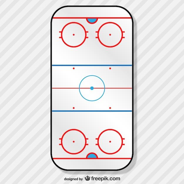 Рисунок хоккейного поля