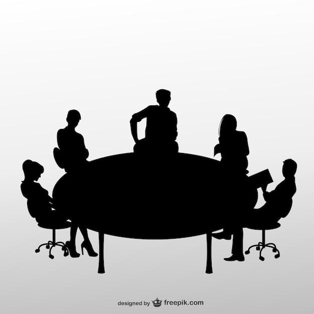 ビジネスミーティングのシルエット ベクター画像 無料ダウンロード