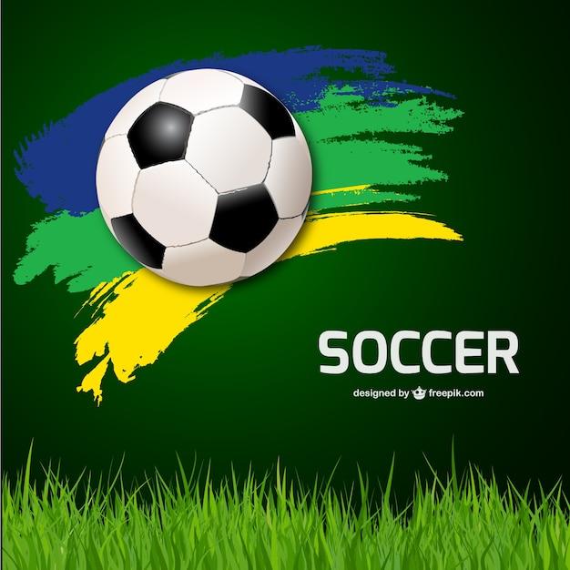 サッカーベクトルの背景 無料ベクター