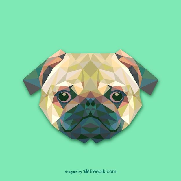 三角形の犬のデザイン 無料ベクター