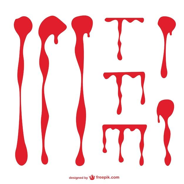 血痕のベクトルグラフィック 無料ベクター