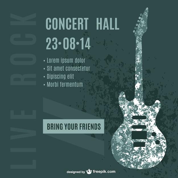 ギターコンサートポスター 無料ベクター