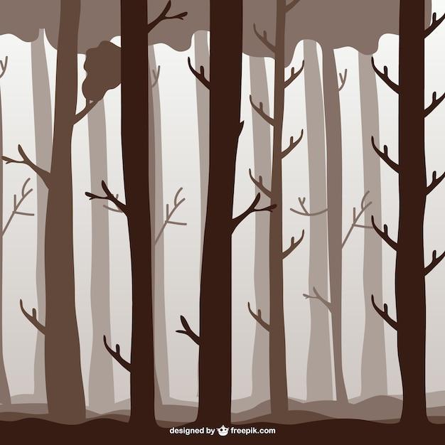 森の木のイラスト ベクター画像 無料ダウンロード