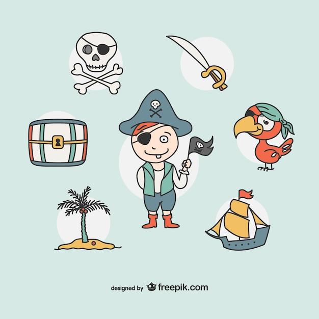 пират иконки рисования коллекция ...: ru.freepik.com/free-vector/pirate-drawing-icons-collection_729846.htm