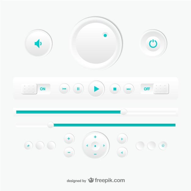 Вектор дизайн мультимедийный плеер Бесплатные векторы