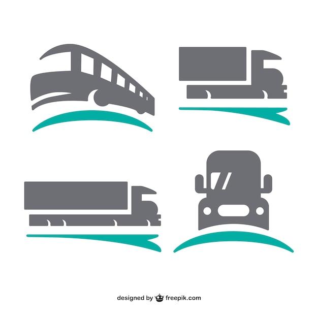 輸送ロゴはセット 無料ベクター