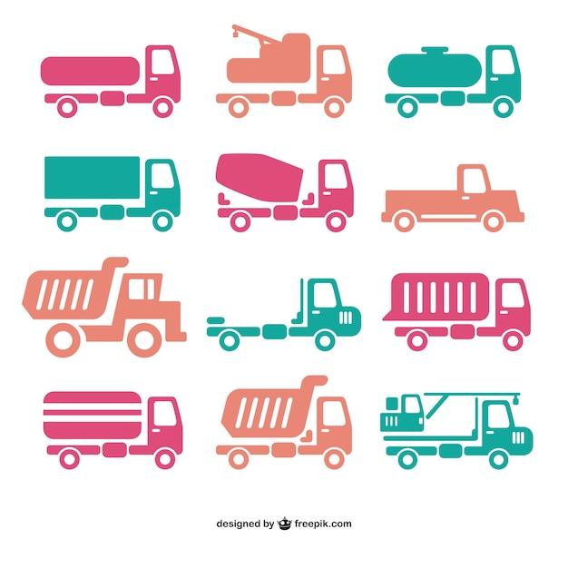 トラックのアイコンベクトル 無料ベクター