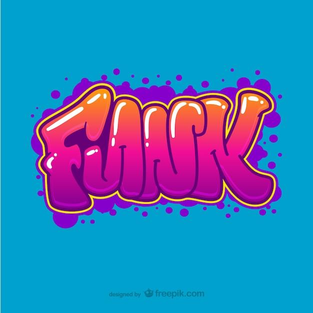 Фанк граффити вектор Бесплатные векторы