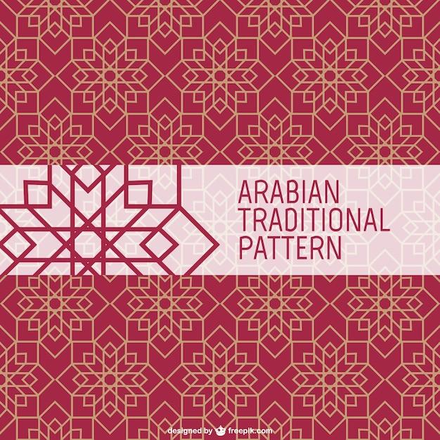 アラビアの伝統的なパターン 無料ベクター