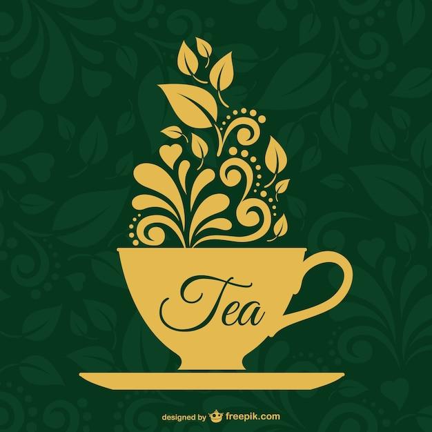 ヴィンテージ茶ベクター設計 無料ベクター