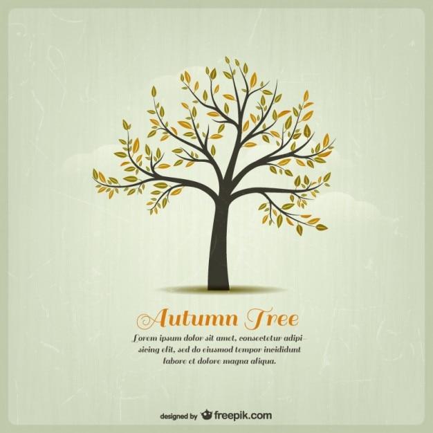 秋の木のテンプレート 無料ベクター