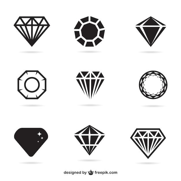 Плоские ювелирные изделия иконы Бесплатные векторы