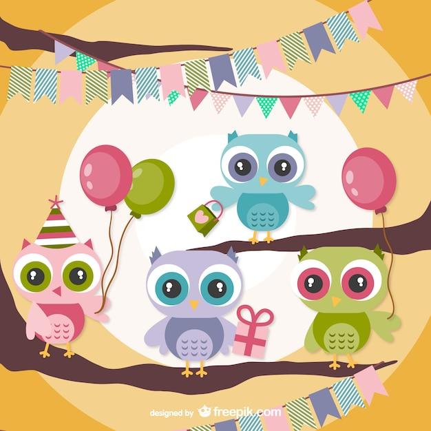 Открытка с днем рождения с совенком, юбилеем стиле скрапбукинга