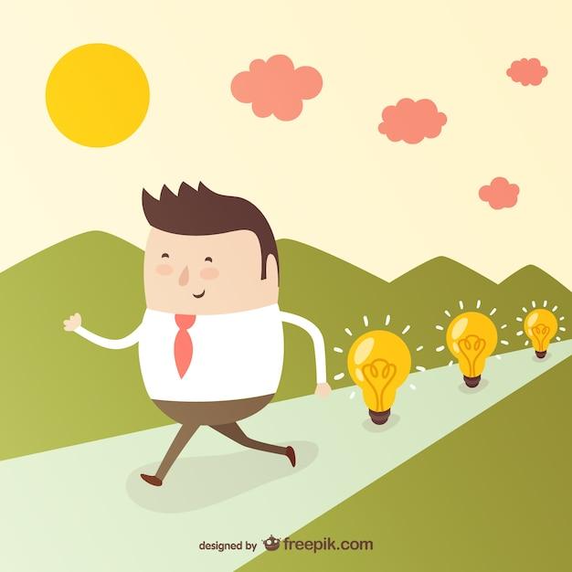 ビジネスでは良いアイデア 無料ベクター