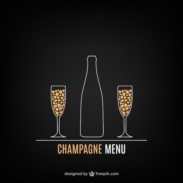 Меню шампанское Бесплатные векторы