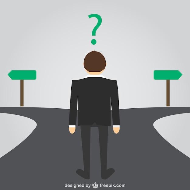 ビジネスマンの道を選択する 無料ベクター