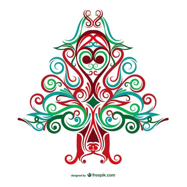 Новогодние открытки елка орнамент вектор, приколы