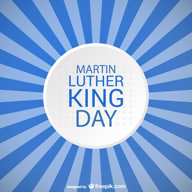 マーティン·ルーサー·キング·デー青のストライプのデザイン 無料ベクター
