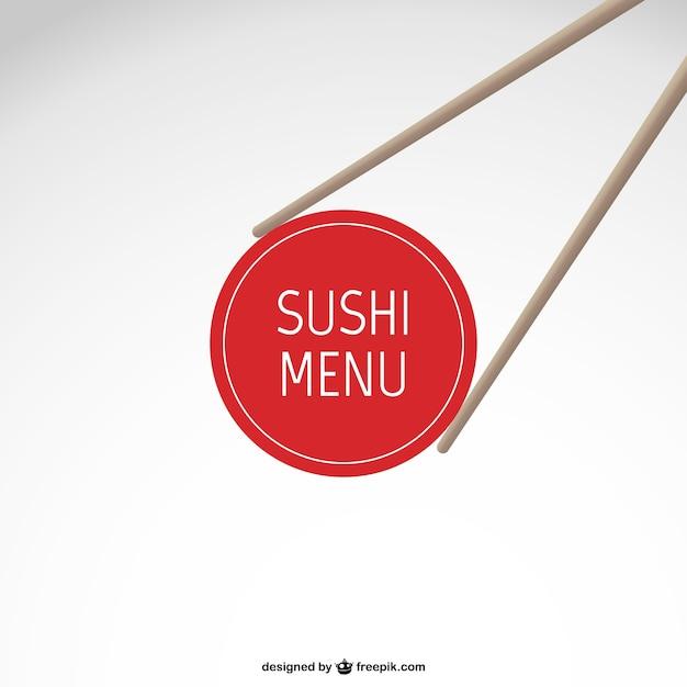 寿司メニューベクトル 無料ベクター
