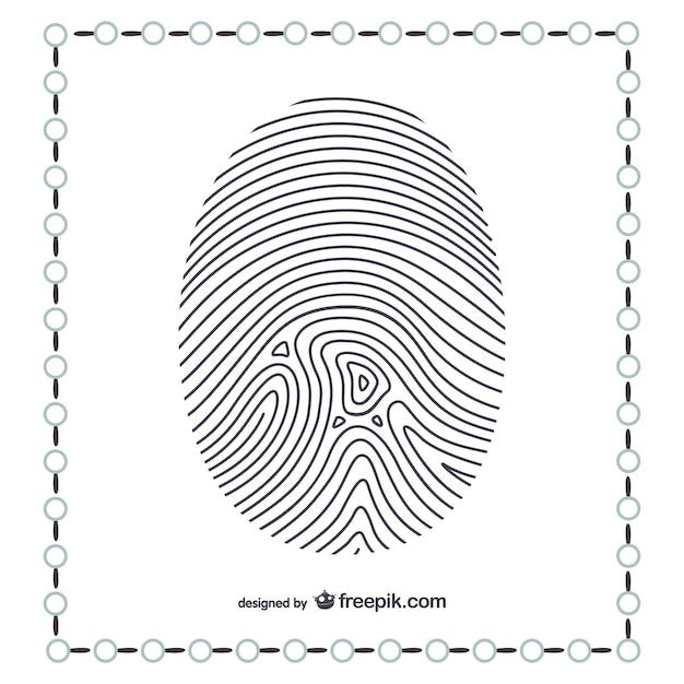 親指の指紋 無料ベクター