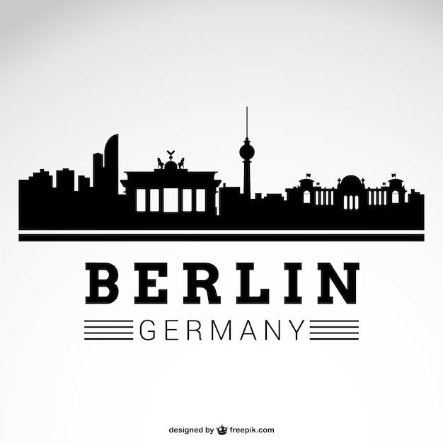 ベルリンの街のスカイライン 無料ベクター