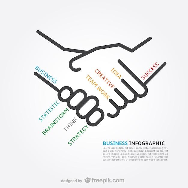 インフォグラフィックビジネス概念 無料ベクター