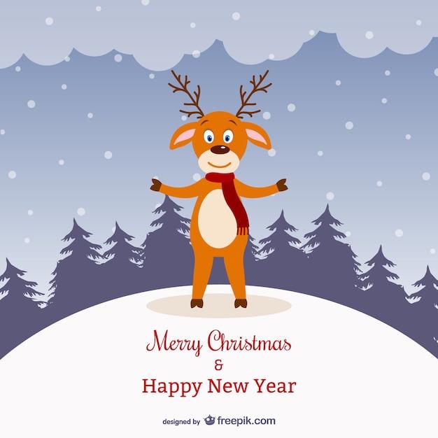 Открытки, открытки на новый год с оленем