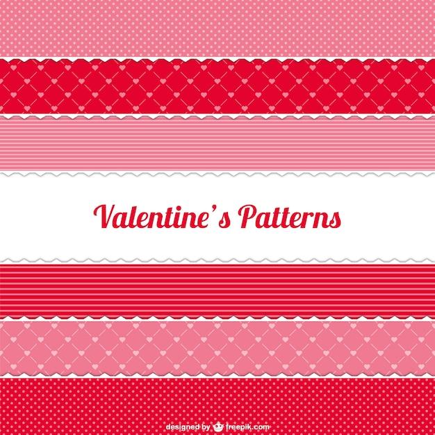 バレンタインパターンパック 無料ベクター