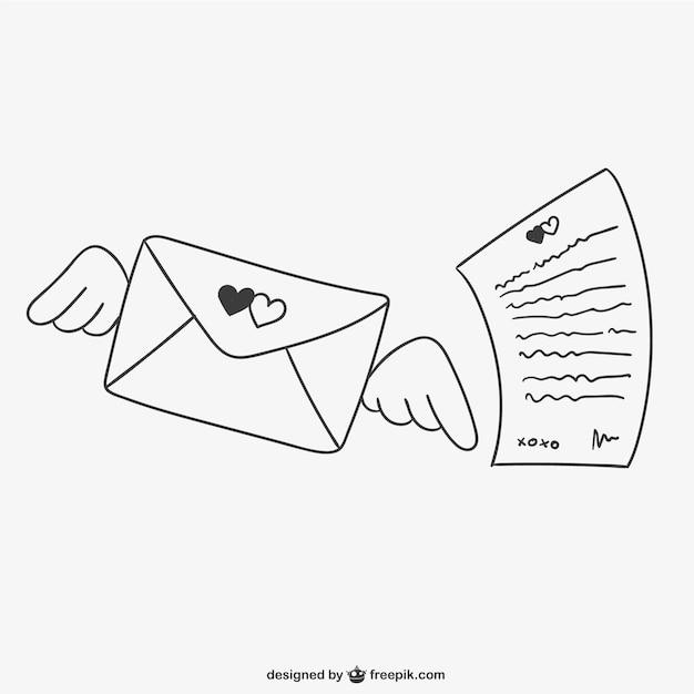 1-м, рисунок для письма