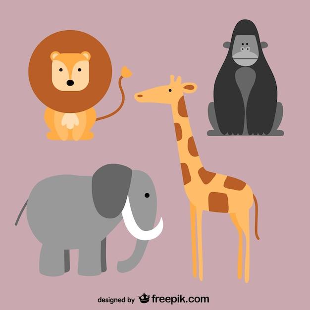 Африканские животные Бесплатные векторы