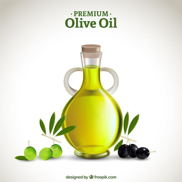 Премиум оливковое масло Бесплатные векторы
