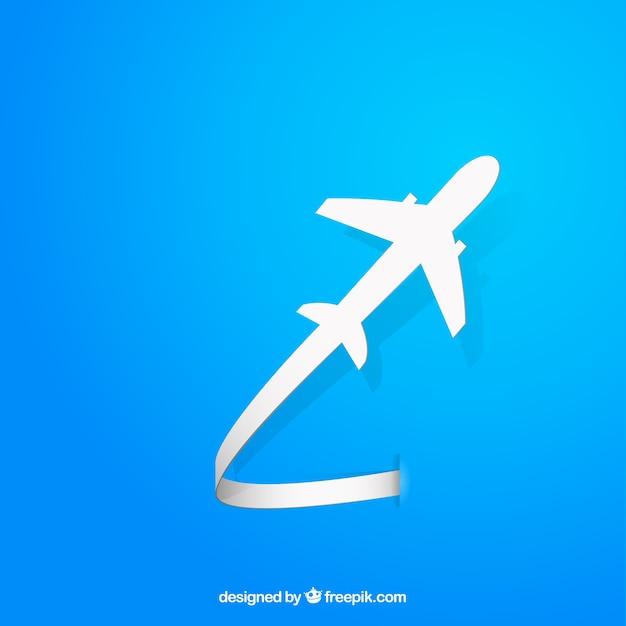 フライング飛行機のシルエット 無料ベクター
