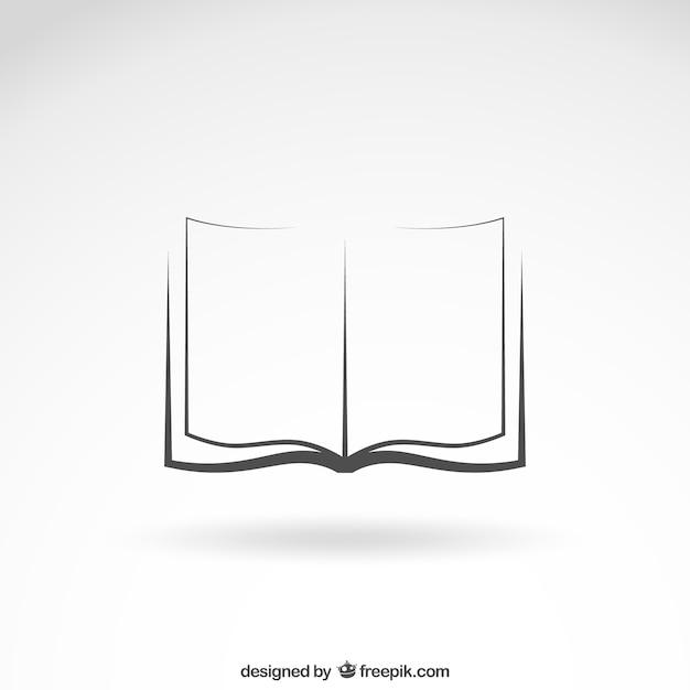 開いた本のアイコン 無料ベクター