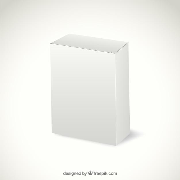 Белый картонная упаковка Бесплатные векторы