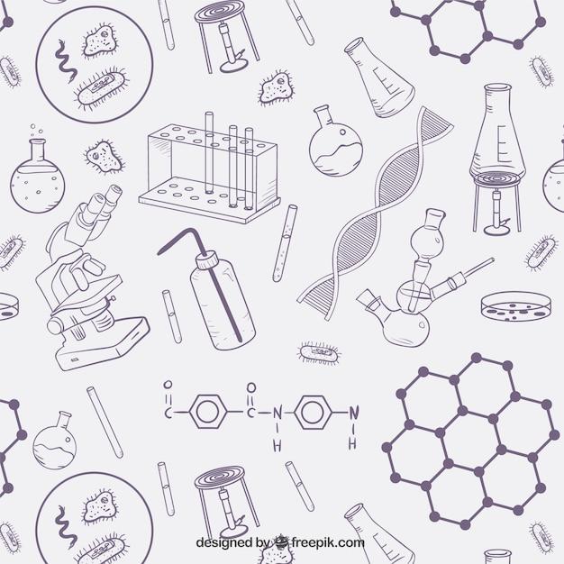 科学はパターンオブジェクト 無料ベクター