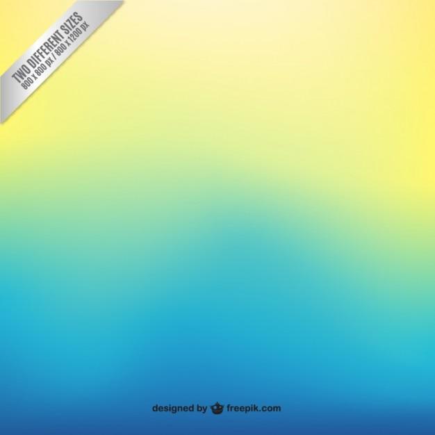 黄色のグラデーションの背景にブルー 無料ベクター
