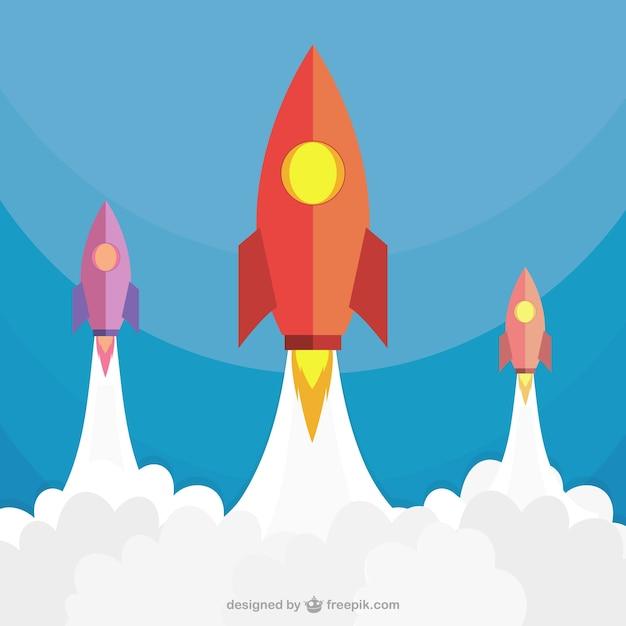 Ракеты запуск Бесплатные векторы
