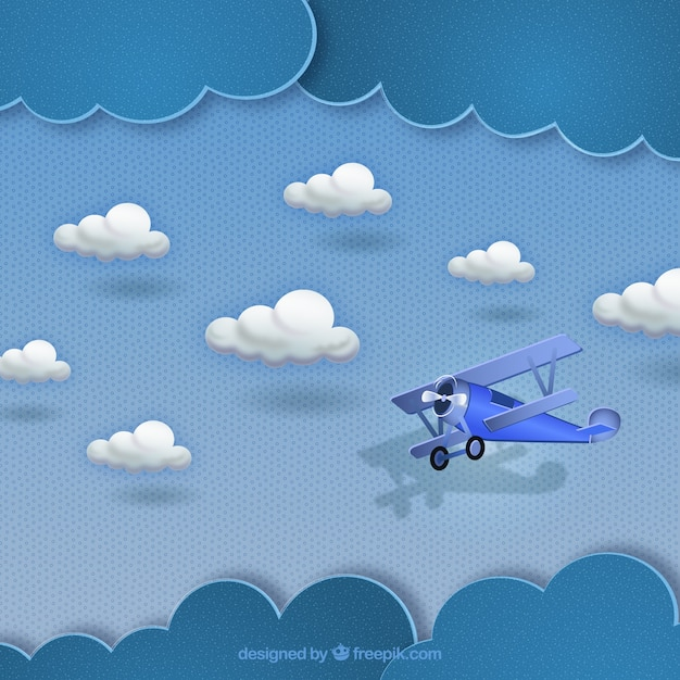 Картинки детские самолеты в небе